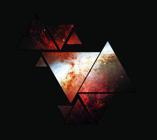 Обои на телефон треугольник, черные, треугольники, темные, космос, звезды
