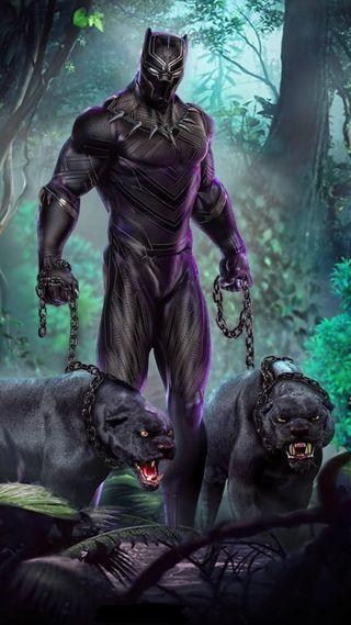 Обои на телефон marvel, черные, марвел, фильмы, супер, лес, герой, животные, пантера