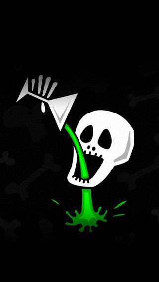 Обои на телефон скелет, череп, напиток, крутые, забавные, drunken skeleton
