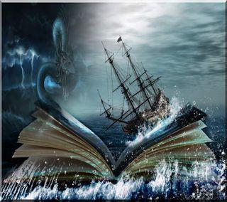 Обои на телефон море, книга, the sea, book off the sea, book off