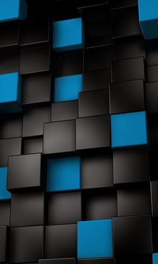 Обои на телефон кубы, синие, blue-cubes