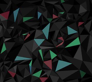 Обои на телефон неоновые, черные, треугольник, темные, синие, красые, зеленые, абстрактные, nox
