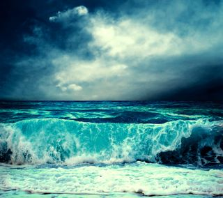 Обои на телефон штормовой, погода, облака, небо, море, волны, вода, stormy weather, sky clouds, sea waves