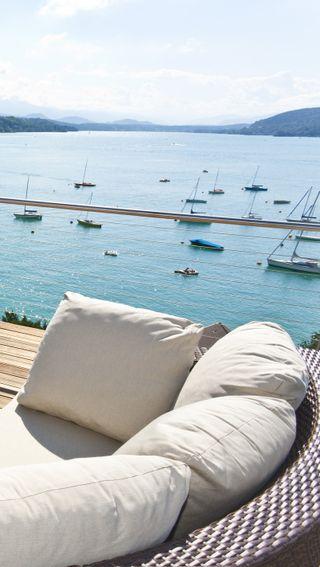 Обои на телефон лодки, остров, море, лето, кровать