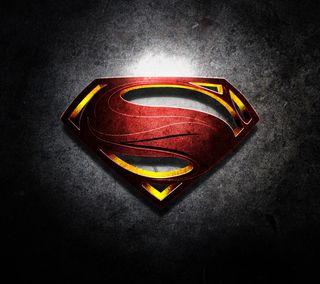 Обои на телефон стальные, супермен, логотипы, герой