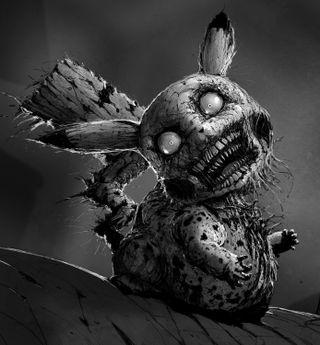 Обои на телефон жуткие, покемоны, пикачу, кошмар, nightmare pikachu