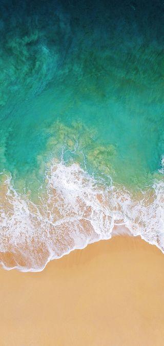 Обои на телефон эпл, пляж, океан, морской берег, айфон, iphone, ios11, apple