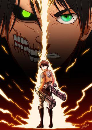Обои на телефон манга, атака на титанов, аниме