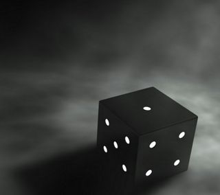 Обои на телефон куб, черные, игральные кости