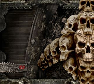 Обои на телефон спираль, череп, скелет, skullshd, hd