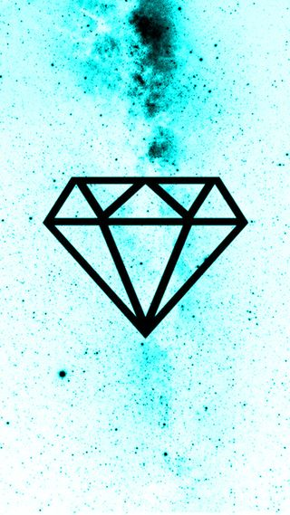Обои на телефон треугольник, бриллиант, галактика, бриллианты, galaxy, diamante