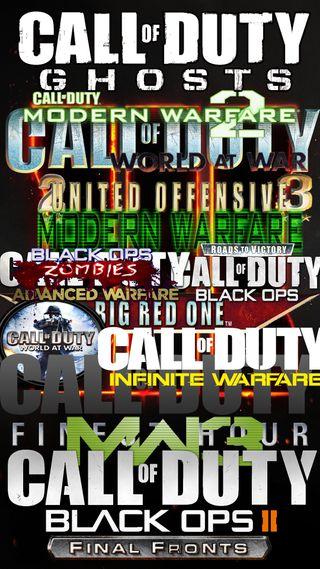 Обои на телефон экшен, ряд, логотипы, игра, list, call of duty series