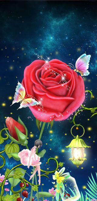 Обои на телефон сказочные, фантазия, симпатичные, розы, девчачие, fairy tale