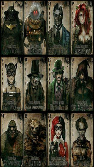 Обои на телефон бэтмен, аниме, villains, dc, batman and villains