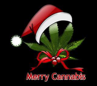 Обои на телефон шутка, трава, счастливое, санта, рождество, листья, конопля, забавные, дым, арт, merry cannabis, art
