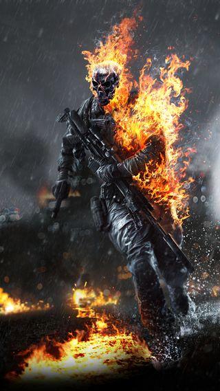 Обои на телефон череп, солдат, оружие, огонь, мужчина, игра, дождь, война, battlefield