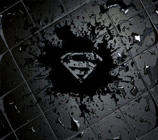 Обои на телефон цветные, супермен, логотипы, черные