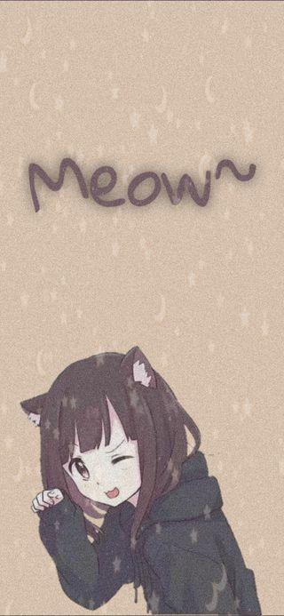 Обои на телефон неко, мяу, каваи, милые, девушки, аниме, weeb, otako, anime neko girl