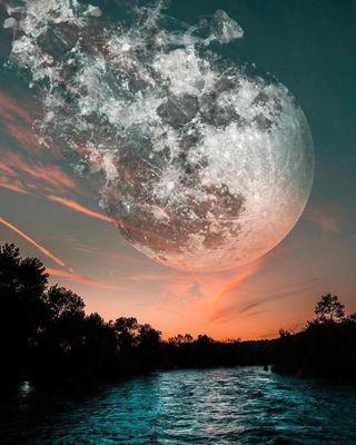 Обои на телефон гром, шторм, синие, рай, природа, освещение, облака, море, meteor ay