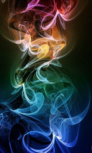 Обои на телефон дым, цветные, абстрактные