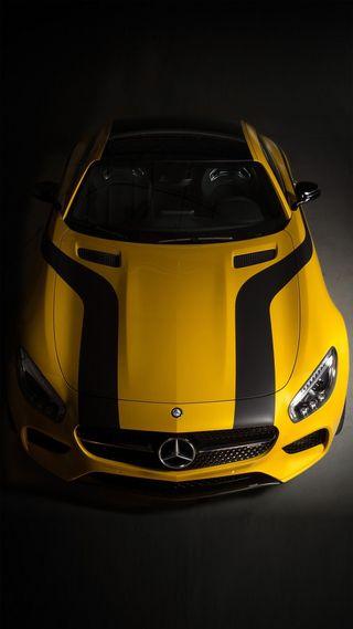 Обои на телефон двигатель, тюнинг, скорость, немецкие, мерседес, машины, желтые, yellow mercedes, mercedes