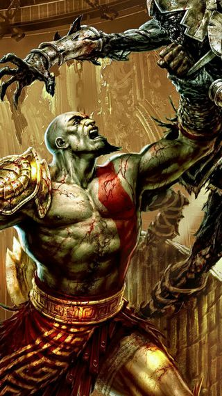Обои на телефон кратос, война, воин, бой, бог, god of war, spartan, aries, ares