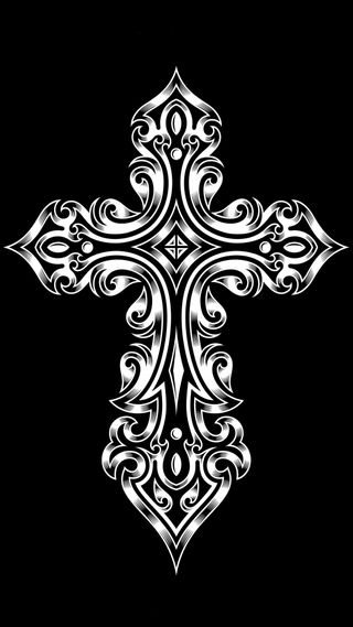 Обои на телефон племенные, черные, крест, дизайн, векторные, абстрактные, spritual
