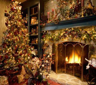 Обои на телефон дом, рождество