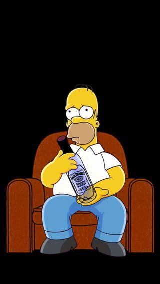 Обои на телефон виски, симпсоны, гомер