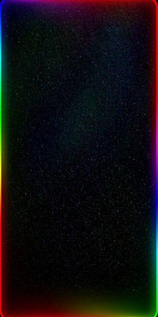Обои на телефон экран, радуга, портал, огни, неоновые, космос, грани