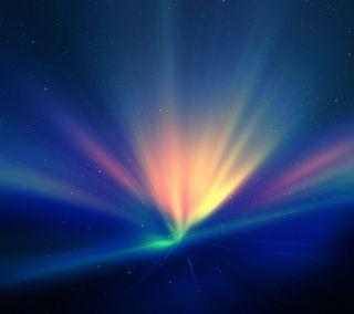 Обои на телефон сияние, цветные, небо, абстрактные