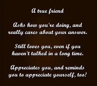 Обои на телефон друг, цитата, правда, поговорка, новый, крутые, знаки, appreciate, a true friend