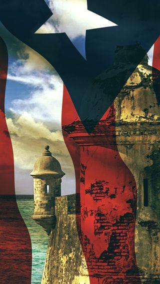 Обои на телефон ми, флаг, синие, сан, остров, красые, карибсий, звезда, белые, san juan, puerto rico, mi sangre, el morro