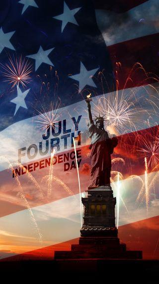 Обои на телефон независимость, июль, день, 4е