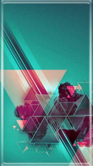 Обои на телефон треугольник, синие, абстрактные, vectors