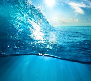 Обои на телефон солнечный свет, солнце, синие, природа, море, волны, вода
