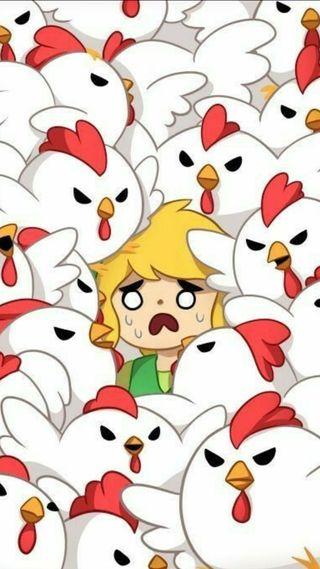 Обои на телефон тема, телефон, милые, легенда, курица, зельда, rooster, loz, link, legend of rooster