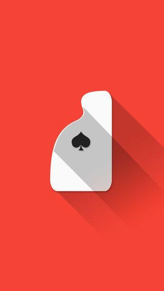 Обои на телефон туз, покер, плоские, материал, красые, карты, playing cards