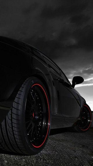 Обои на телефон back light, black bentley, черные, машины, свет, колеса, обод, бентли
