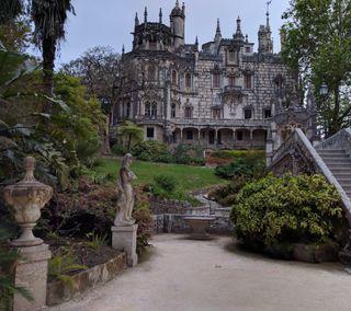 Обои на телефон португалия, природа, дом, sintra, quinta da regaleira