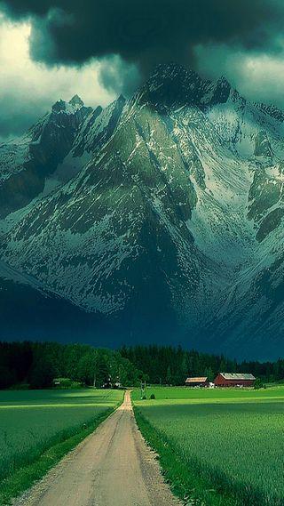 Обои на телефон путь, поле, дорога, горы, summit path