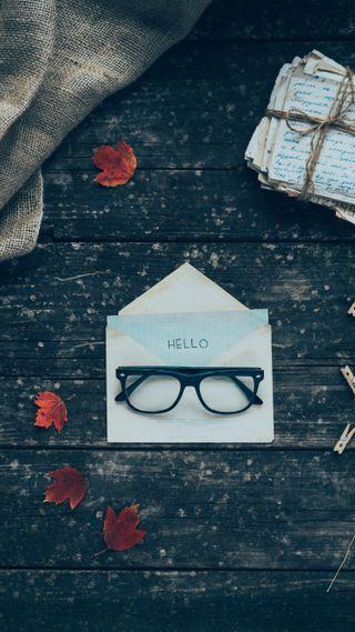 Обои на телефон очки, буквы, envelope