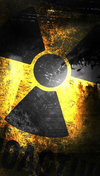 Обои на телефон ядерные, желтые, черные