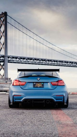 Обои на телефон тюнинг, синие, машины, м4, купе, зад, гоночные, вид, бмв, автомобили, rear view, f82, bmw