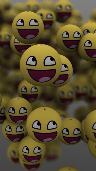 Обои на телефон смайлы, эмоджи, смайлики, лица, желтые, smile emoji