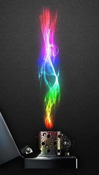 Обои на телефон пламя, красочные, абстрактные