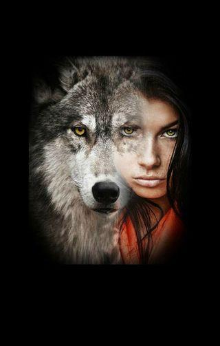 Обои на телефон черные, приятные, девушки, лучшие, волк, король, охотник