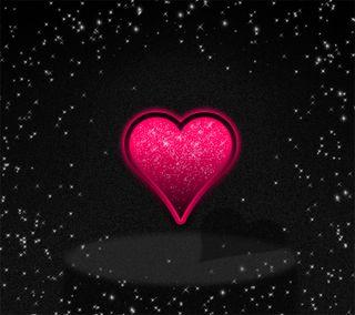 Обои на телефон сверкающие, черные, сердце, красые