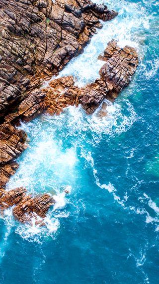 Обои на телефон романтика, поцелуй, пляж, океан, море, пейзаж, любовь, камни, вода, love