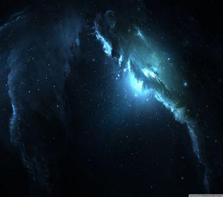 Обои на телефон туманность, космос